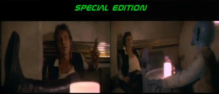 Consecutive frames from the special edition
